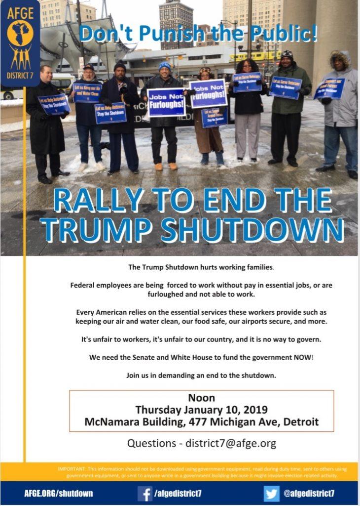 Rally to End Government Shutdown - AFGE 1658
