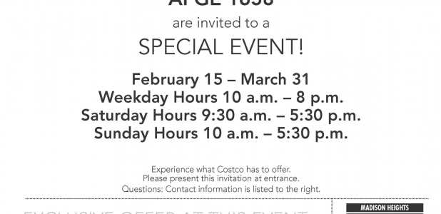 COSTCO: YOU'RE INVITED!